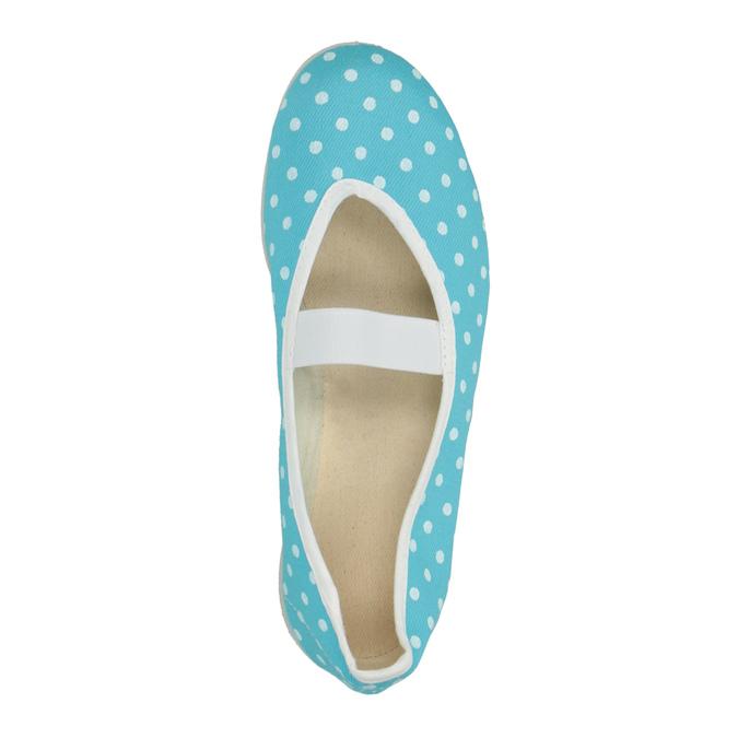 Dětské cvičky s puntíky bata, modrá, 379-9103 - 19