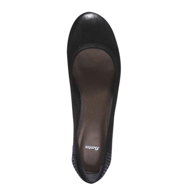 Kožené baleríny bata, černá, 526-6101 - 19