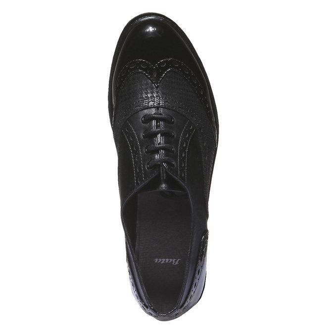 Dámská obuv na masivní podešvi bata, černá, 521-6114 - 19