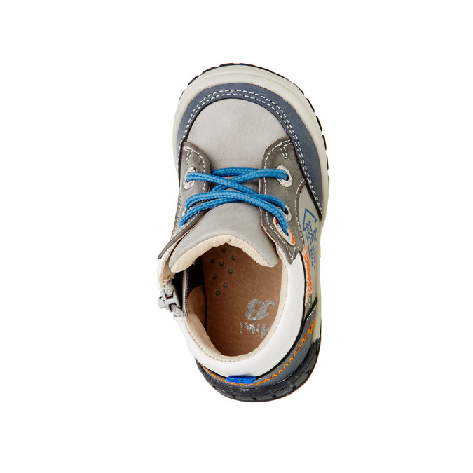 Kotníčkové boty se zipem mini-b, šedá, 111-2100 - 19