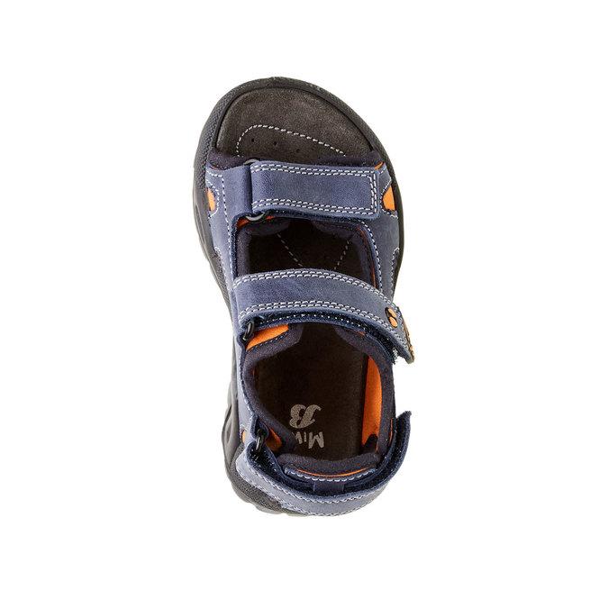 Dětské kožené sandály mini-b, modrá, 466-9121 - 19