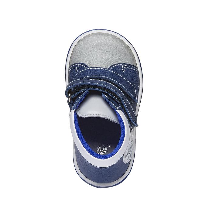 Dětské kožené tenisky na suché zipy bubblegummer, modrá, 114-9147 - 19