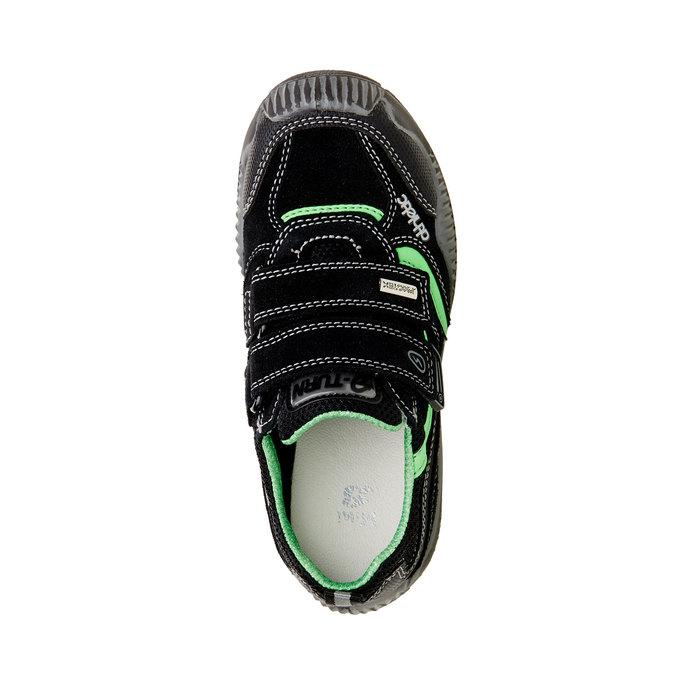 Dětské Kožené tenisky na suché zipy mini-b, černá, 413-6130 - 19
