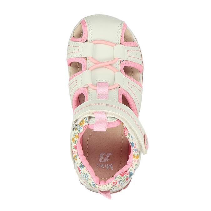 Dívčí sandály na suchý zip mini-b, bílá, 121-1105 - 19