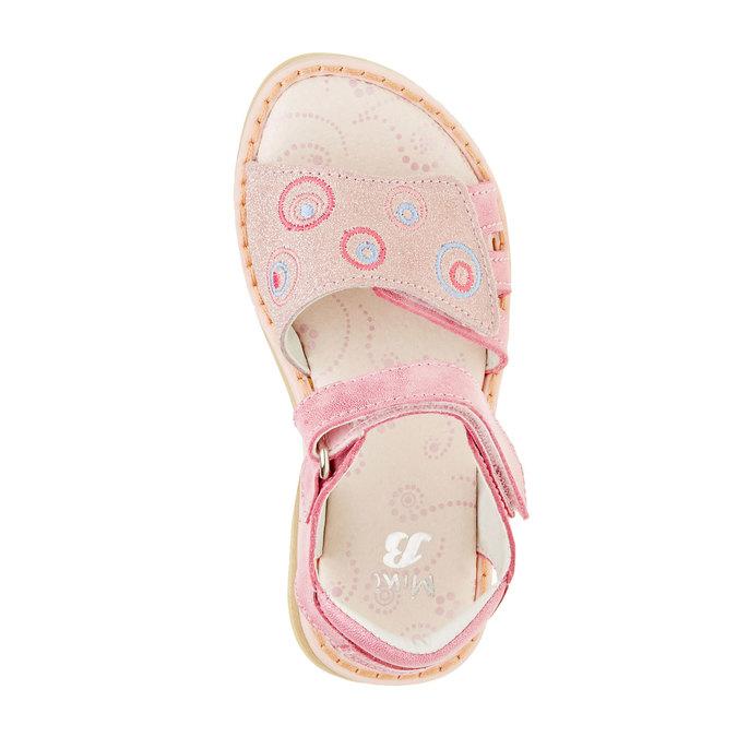 Dětské kožené sandály mini-b, růžová, 266-5310 - 19