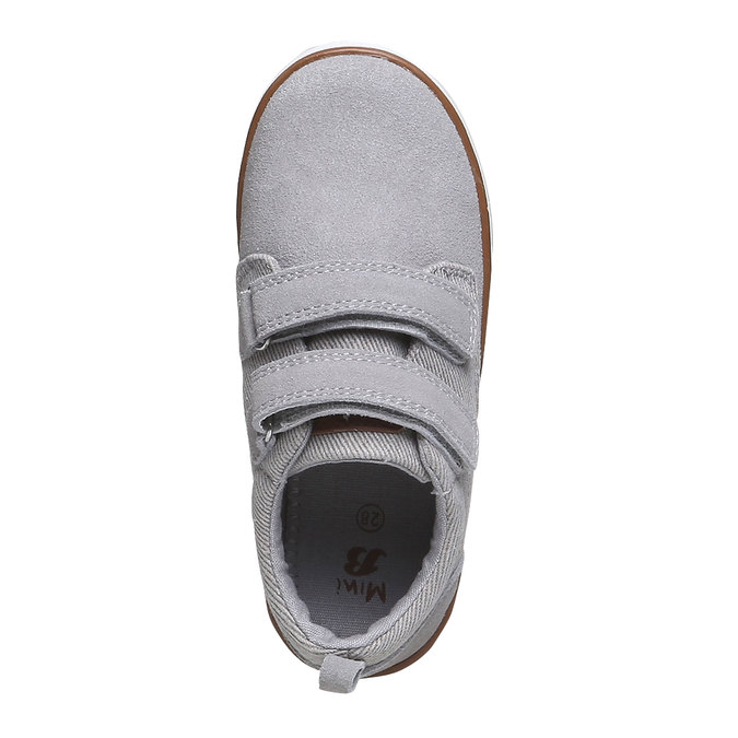 Dětské kožené tenisky mini-b, šedá, 313-2204 - 19