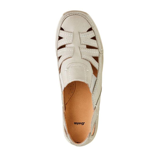 Neformální kožené polobotky bata, béžová, 524-3116 - 19