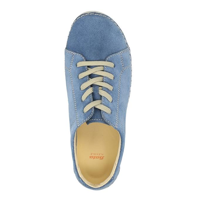 Ležérní kožené tenisky flexible, modrá, 526-9603 - 19