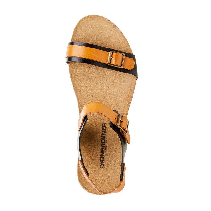 Kožené sandály na klínovém podpatku weinbrenner, černá, 564-6520 - 19