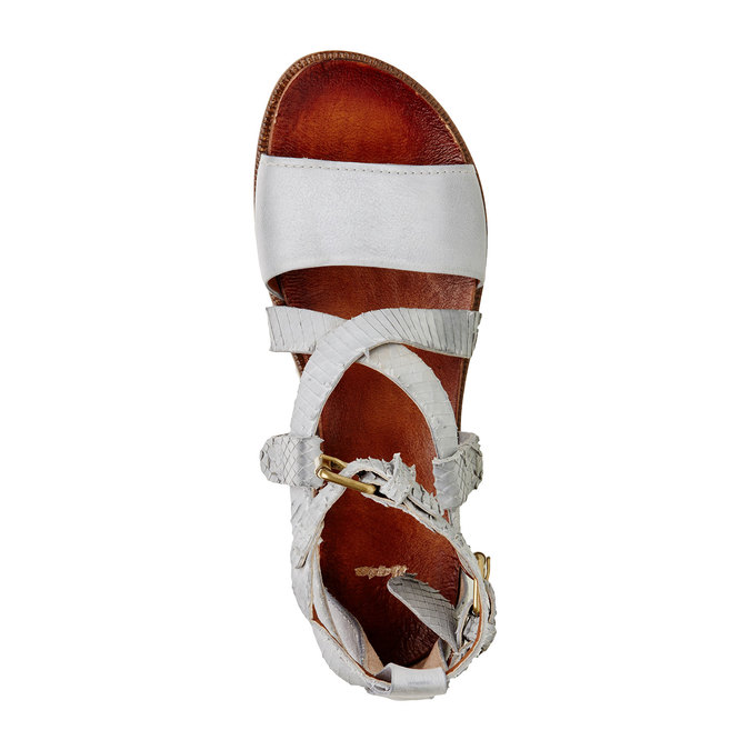 Dámské kožené sandály bata, 566-1103 - 19