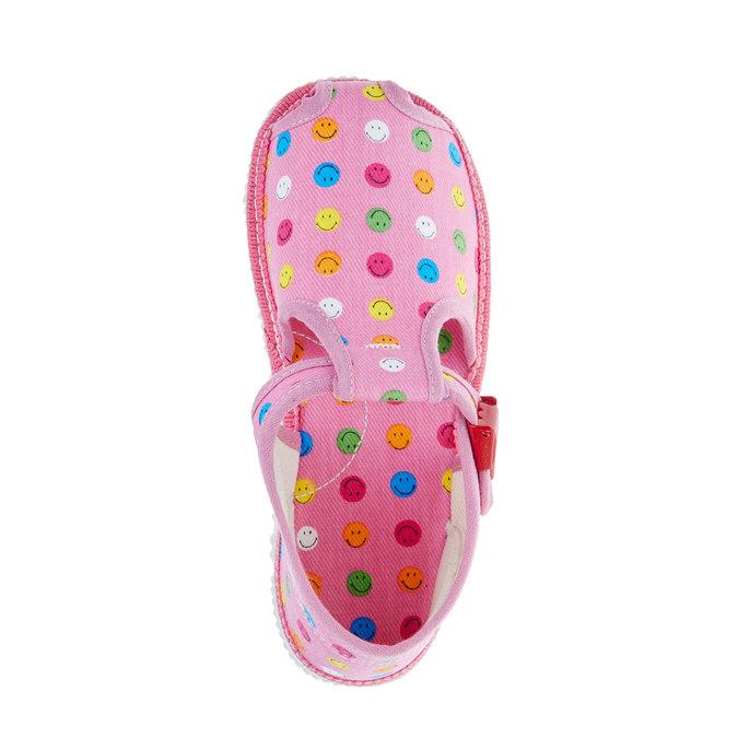 dětská domácí obuv bata, růžová, 179-5100 - 19