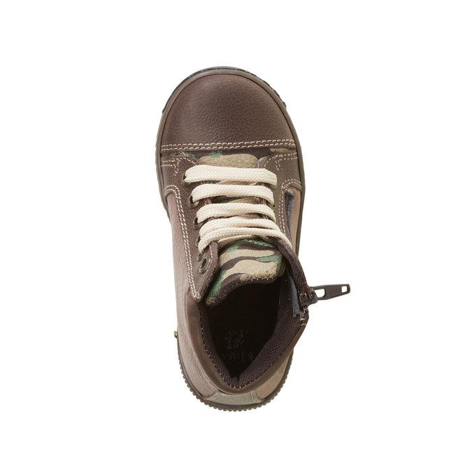 Kožené chlapecké kotníkové boty mini-b, hnědá, 114-4135 - 19