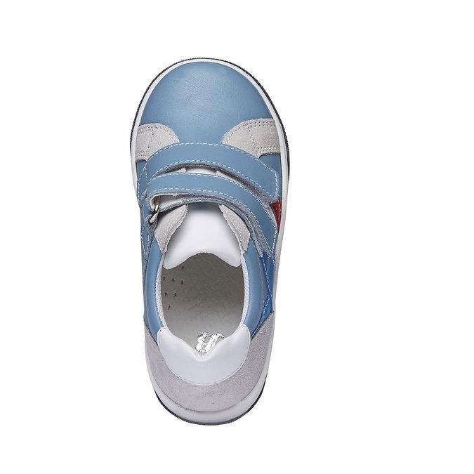 Dětské kožené tenisky na suché zipy mini-b, modrá, 214-9153 - 19