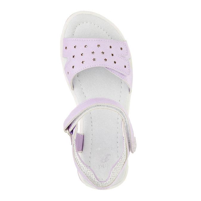 Dívčí sandály na suchý zip mini-b, fialová, 361-9180 - 19