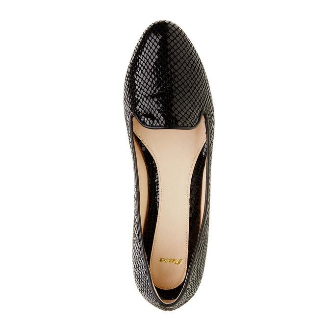 Dámské kožené mokasíny bata, černá, 524-6412 - 19