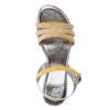 Dívčí sandály s kamínky mini-b, žlutá, 361-8175 - 19