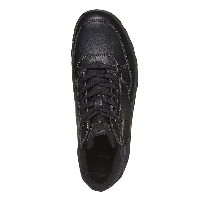 Kožené kotníkové boty se zateplením bata, černá, 894-6130 - 19