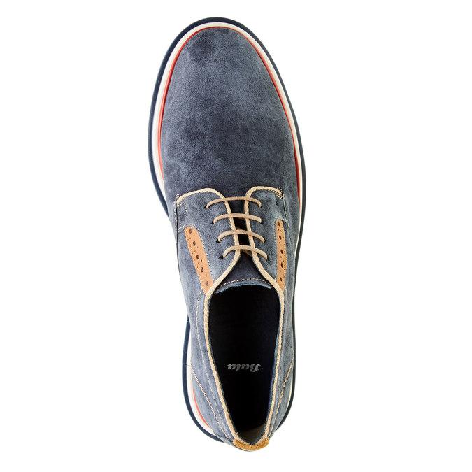 Pánské kožené polobotky bata, modrá, 823-9814 - 19