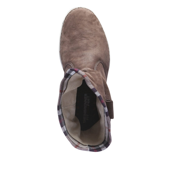 Kožená obuv s barevným lemem weinbrenner, hnědá, 596-4311 - 19