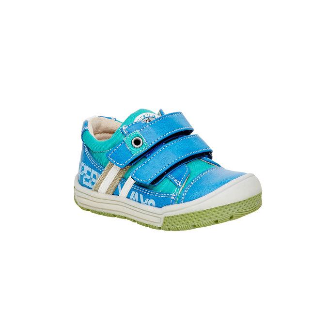 Dětské boty na suché zipy mini-b, modrá, 111-9104 - 13