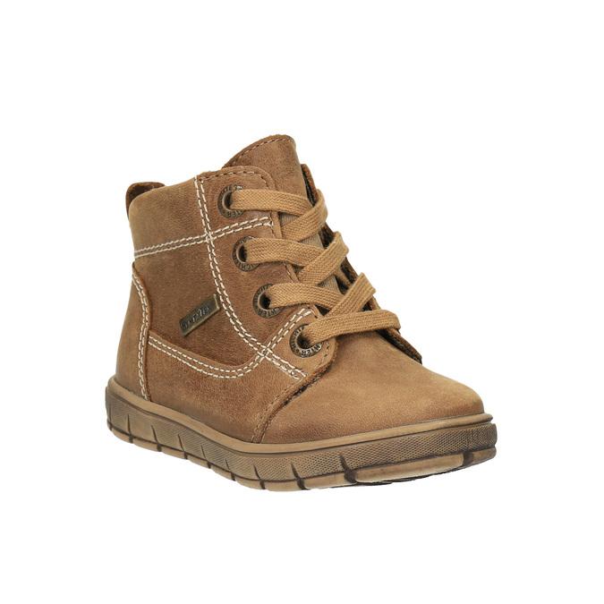 Kožená kotníčková obuv dětská richter, hnědá, 194-8001 - 13