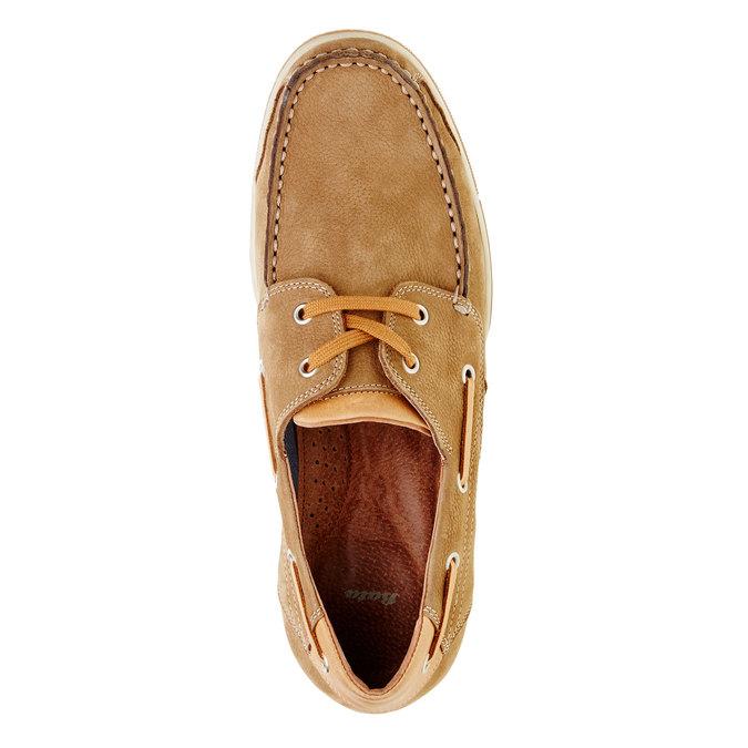 Ležérní kožené mokasíny bata, hnědá, 856-3176 - 19