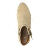 Dámská kotníčková obuv z broušené kůže bata, béžová, 693-1600 - 19