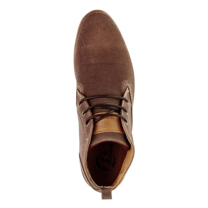 Kožené kotníčkové polobotky bata, hnědá, 826-3101 - 19