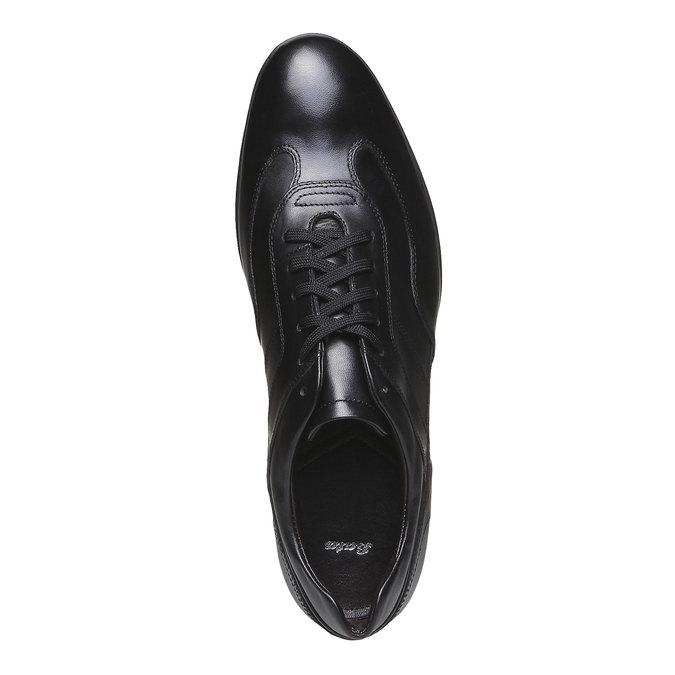 Ležérní kožené polobotky bata, černá, 824-6988 - 19
