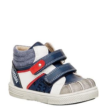 Kotníčkové boty na suché zipy mini-b, modrá, 111-9101 - 13