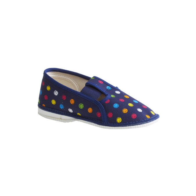 Dětská domácí obuv bata, modrá, 179-9105 - 13