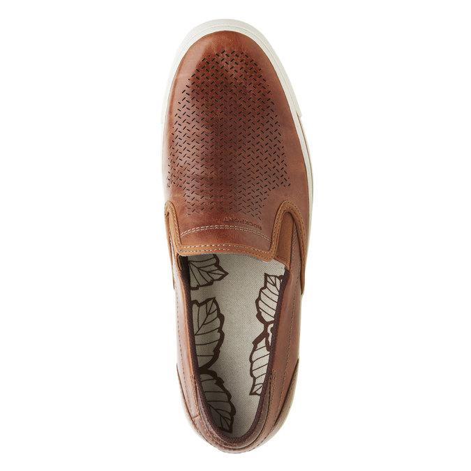 Kožené Plim Soll boty rockport, hnědá, 814-3103 - 19