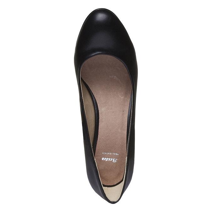 Lodičky s kulatou špičkou bata, černá, 621-6387 - 19