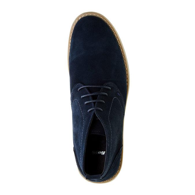 Semišové Chukka boots bata, modrá, 843-9641 - 19