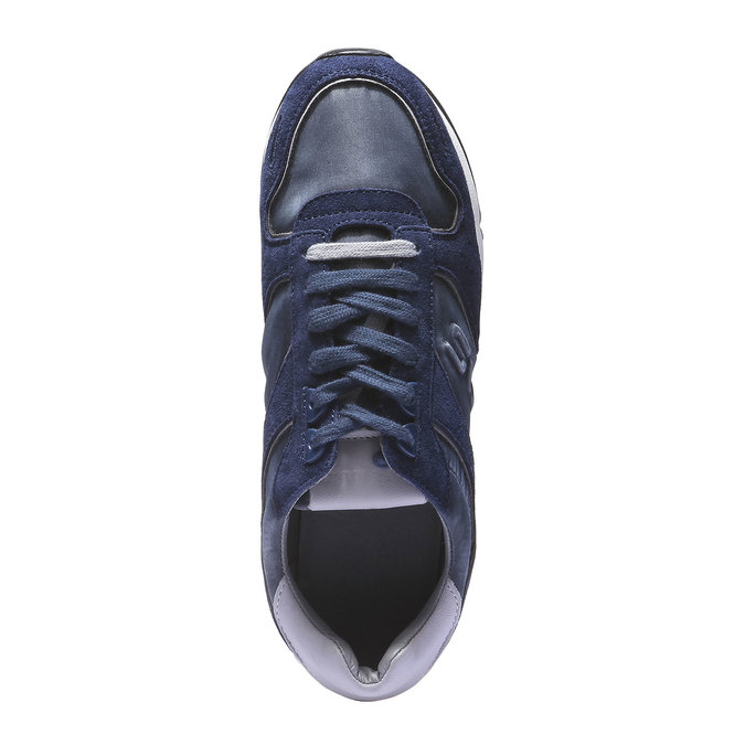 Kožené tenisky north-star, modrá, 843-9510 - 19