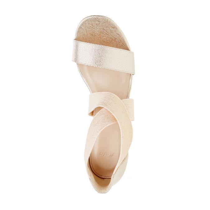 Dámské kožené sandály bata, béžová, 769-1300 - 19