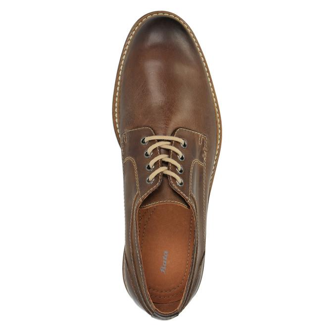Neformální kožené polobotky bata, hnědá, 824-4654 - 19