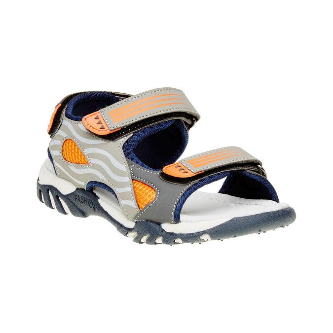 Dětské sandály mini-b, šedá, 261-2168 - 13