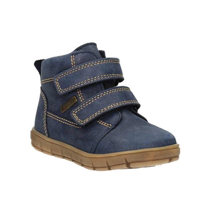 Dětská kožená obuv nad kotníky richter, modrá, 194-9001 - 13
