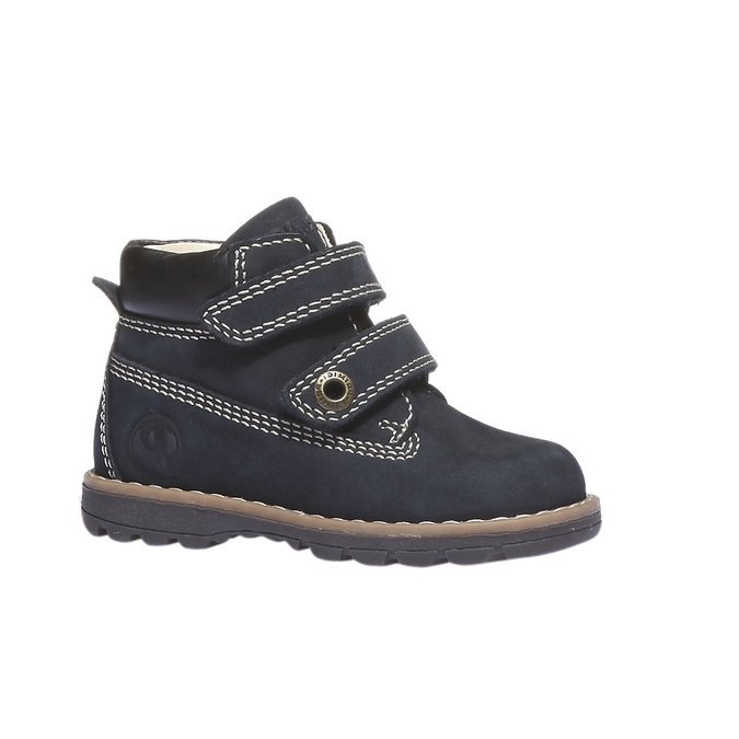 Kožené kotníkové boty primigi, modrá, 116-9134 - 13