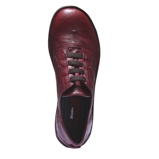 Dámská kožená obuv bata, červená, 624-5111 - 19