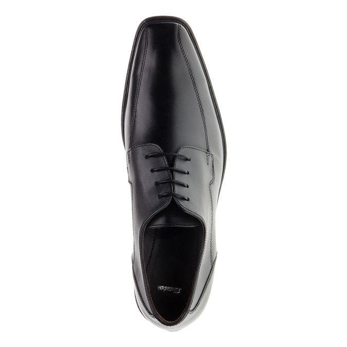 Pánské kožené polobotky bata, černá, 824-6517 - 19