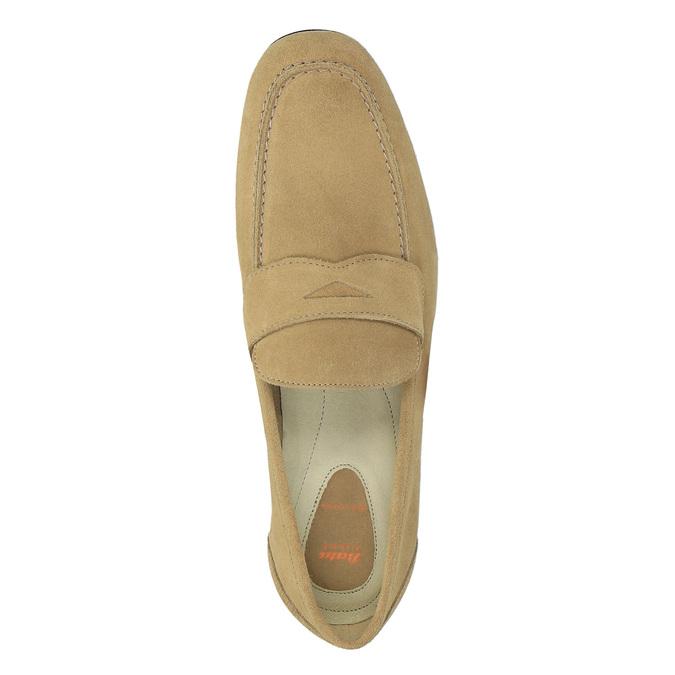 Pánské kožené mokasíny flexible, béžová, 853-8186 - 19