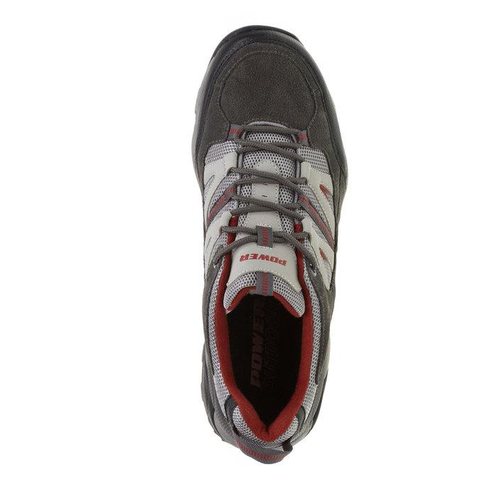 Kožená sportovní obuv power, šedá, 803-2284 - 19