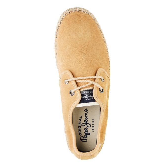 Pánské kožené tenisky pepe-jeans, hnědá, 823-3011 - 19