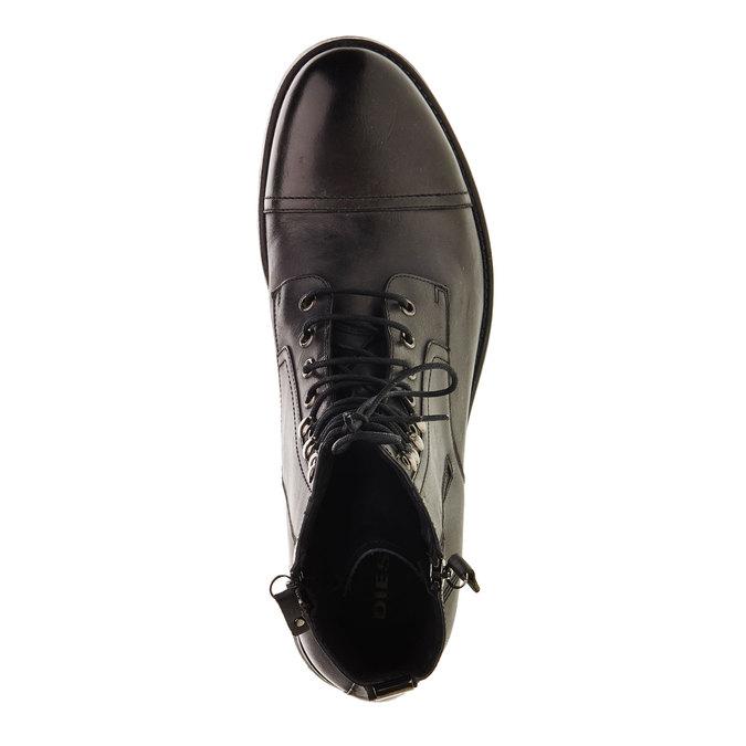 Kožená kotníčková obuv diesel, černá, 896-6106 - 19