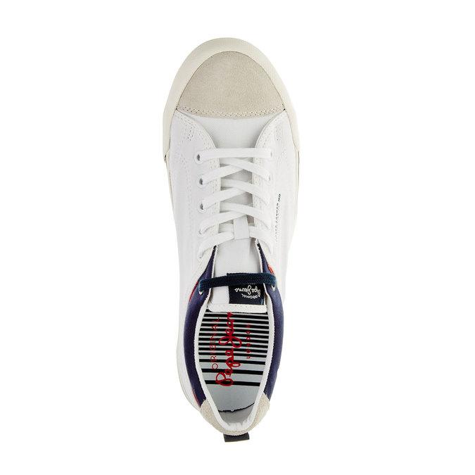 Pánské ležérní tenisky pepe-jeans, bílá, 849-1016 - 19