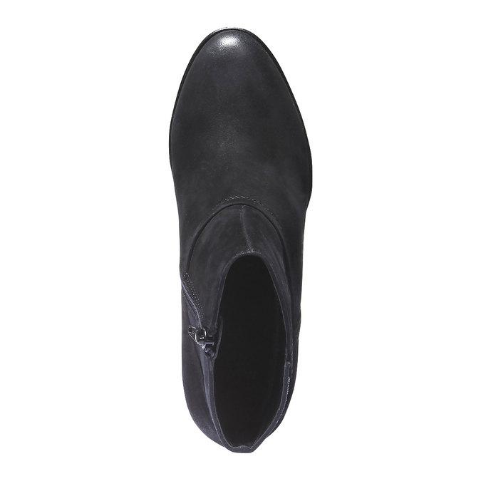Kožená kotníčková obuv bata, černá, 796-6122 - 19
