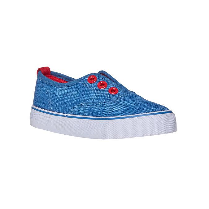 Dětské Slip on boty mini-b, modrá, 219-9150 - 13