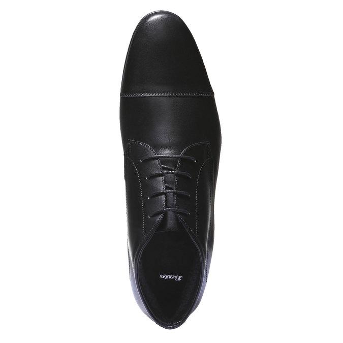 Kožené kotníčkové boty se zateplením bata, černá, 894-6436 - 19